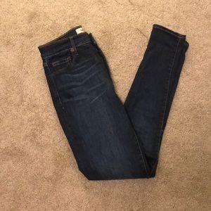 Gap super high rise skinny dark wash jean